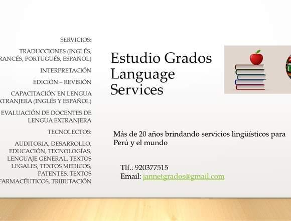 Estudio Grados Language Services