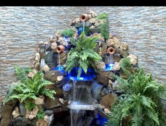 Mantenimiento de cascadas artificiales