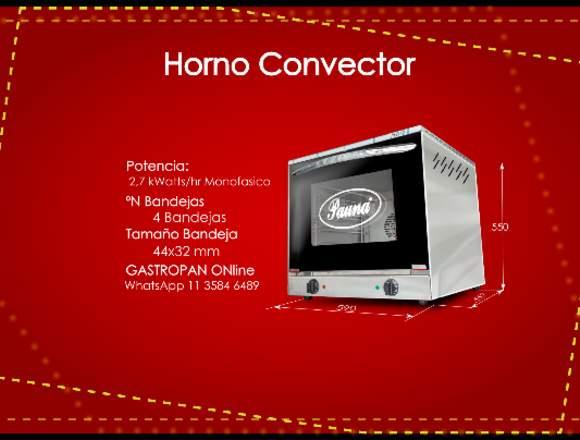 Horno Convector PAUNA monofasico 4 bandejas 44x32