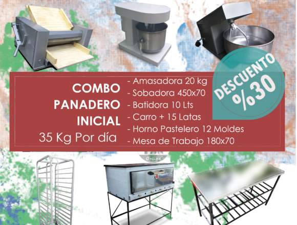 Combo Panaderia 35 kilos de Pan Diarios