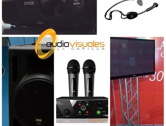 Alquiler video beam sonido tv