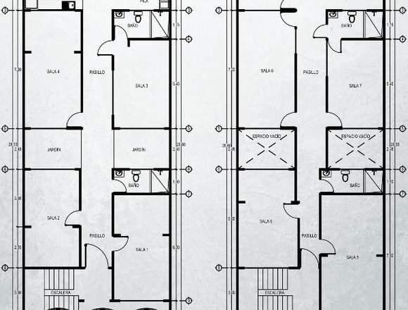 Alquiler de edificio para oficinas.