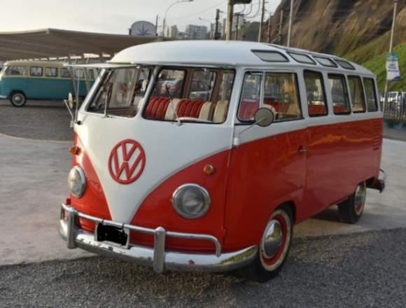 VW KOMBI T1 SAMBA,DEL AÑ0 1958.RESTAURADA AL 100 %