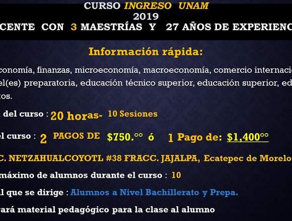 Curso Ingreso Nivel Licenciatura: UNAM, IPN y UAM
