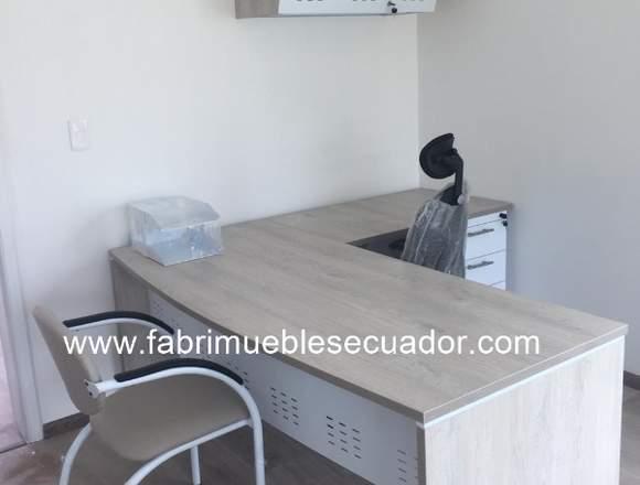 Estacion de Trabajo en L - Mueble de Oficina.