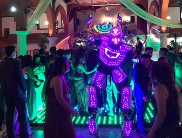 Show de Robot de Luces y Arlequines