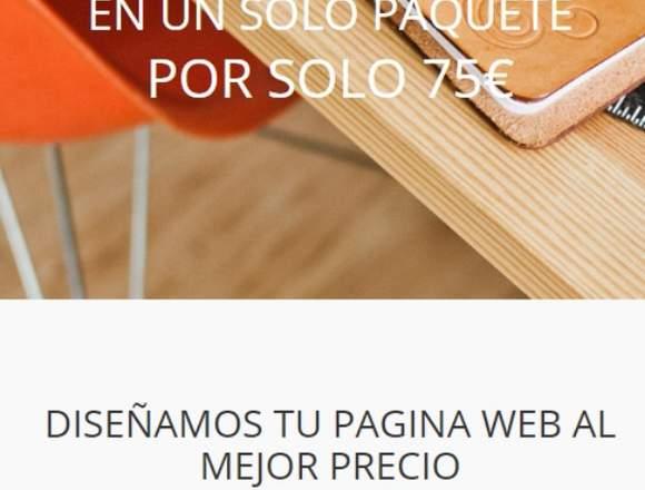 DISEÑO WEB PROFESIONAL DESDE 75 €