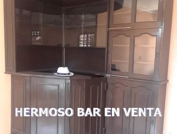 VENDO HERMOSO BAR DE MADERA MARA!
