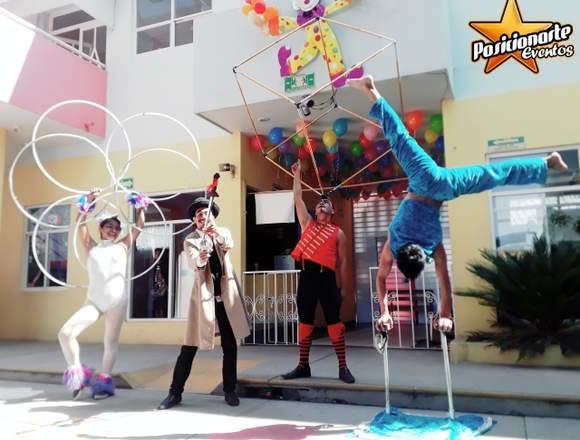 Circo Show: Fuego, Malabares, Danza Aérea