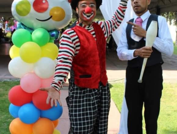 Shows: Payaso, cuentacuentos / Pintacaritas