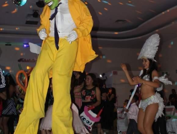 Zanqueros, Show Neón, Robot Led, Bailarinas