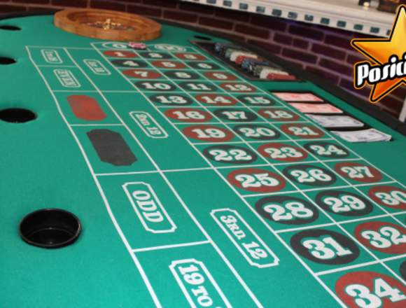Mesas de casino, carpas de miniferia