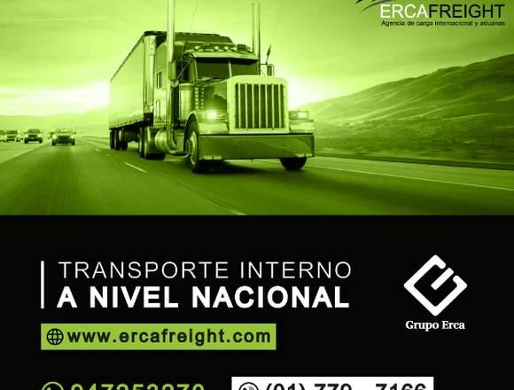 TRANSPORTE INTERNACIONAL A NIVEL NACIONAL