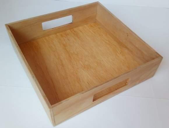 charolas de madera para cualquier producto