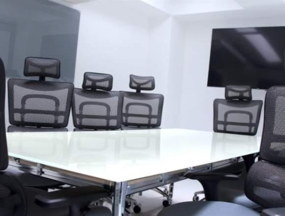 Rebta de oficinas físicas amuebladas en satélite