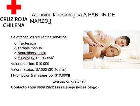 Atencion Kinesiologica Cruz Roja Valparaiso