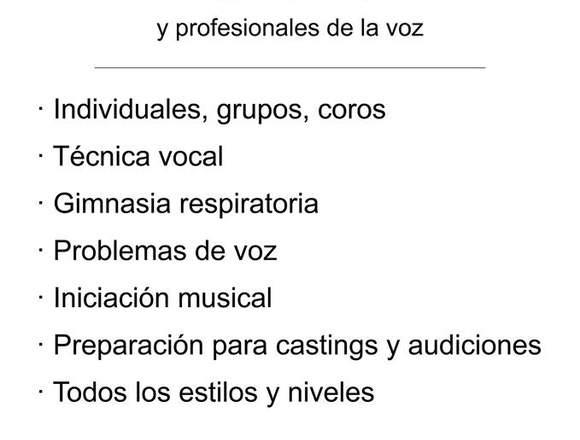 Clases de canto. Málaga. Técnica vocal