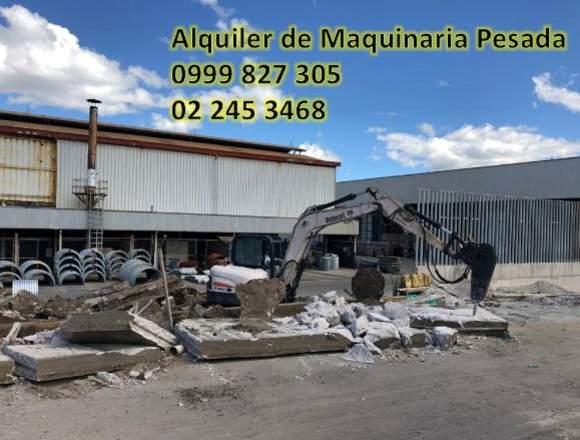 ALQUILER DE MAQUINARIA PESADA, DERROCAMIENTOS.