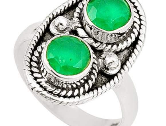 colección de joyas de plata al por mayor esmeralda