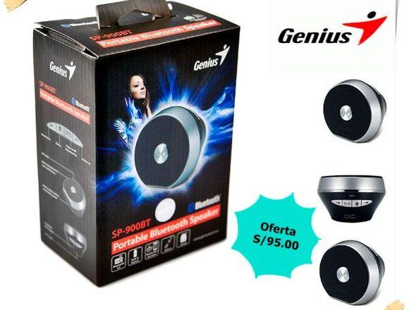Parlante Genius Sp-900bt Bluetooth Black/Silver