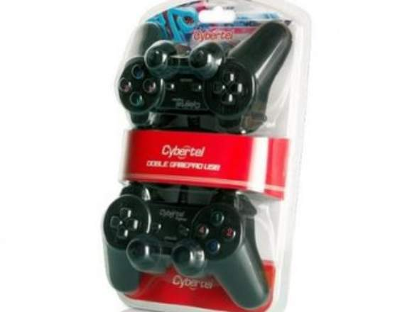 Mando cybertel doble gamepad USB