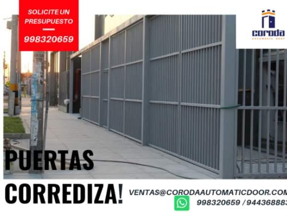 PUERTAS CORREDIZAS  AUTOMÁTICOS