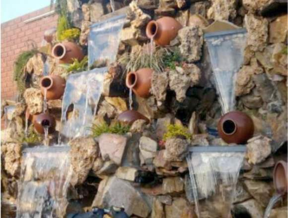 cascadas artificiales, fuentes de agua