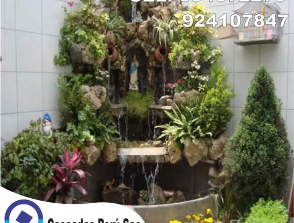 estanques con cascadas, cascadas para jardin,