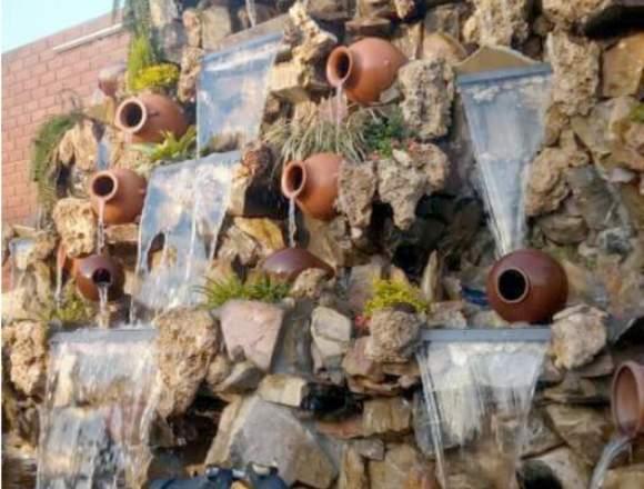 cascadas artificiales, piletas, fuentes de agua