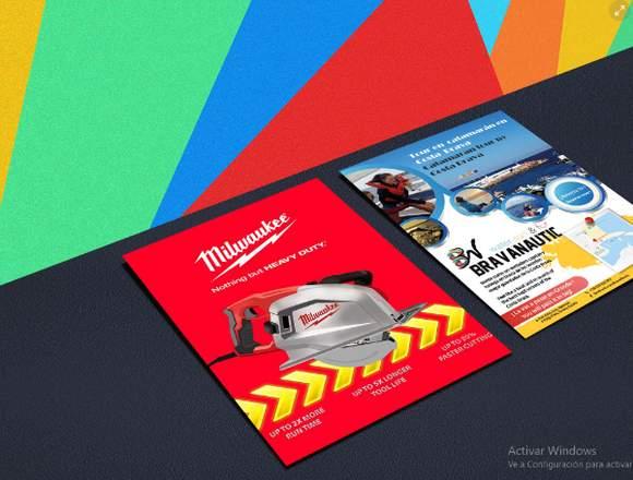 Diseño de flyers/ volantes/ publcidad