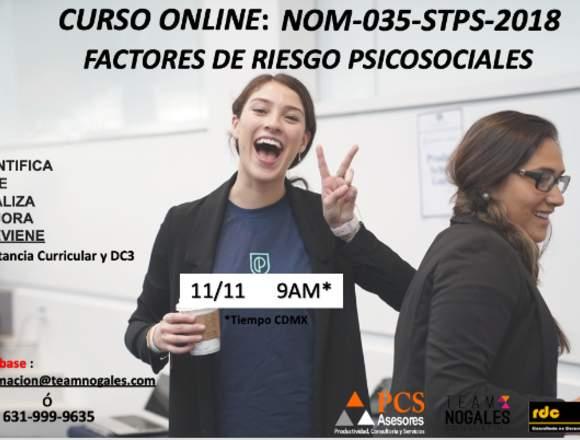 Curso Online NOM-035-STPS-2018