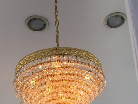 venta de lamparas de cristal