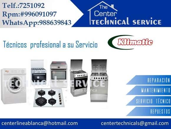 Reparacion de lavadoras  klimatic/* tecnicos