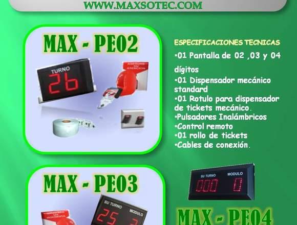 ORDENADOR DE TURNOS PANTALLA DE 2 DÍGITOS/MAXSOTEC