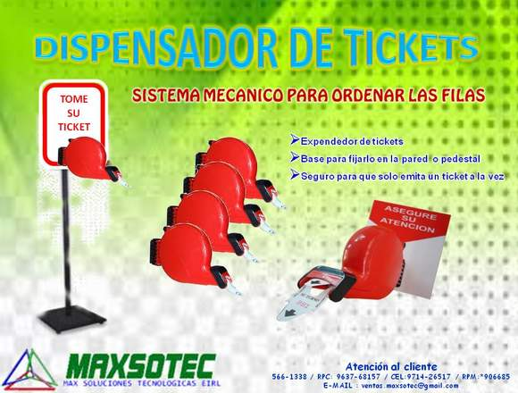 DISPENSADOR DE TICKETS MECANICO/MAXSOTEC