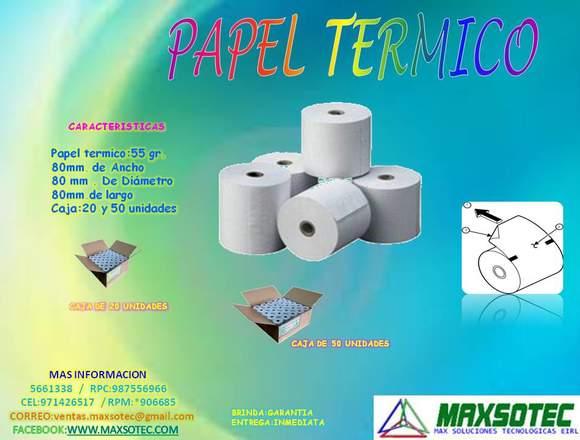 ROLLOS TERMICOS DE 80 x 80 mm/MAXSOTEC
