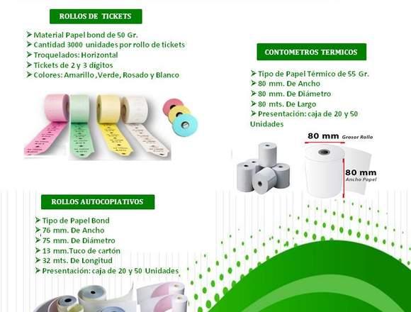 ROLLOS DE TICKETS DE 2 Y 3 DIGITOS /MAXSOTEC