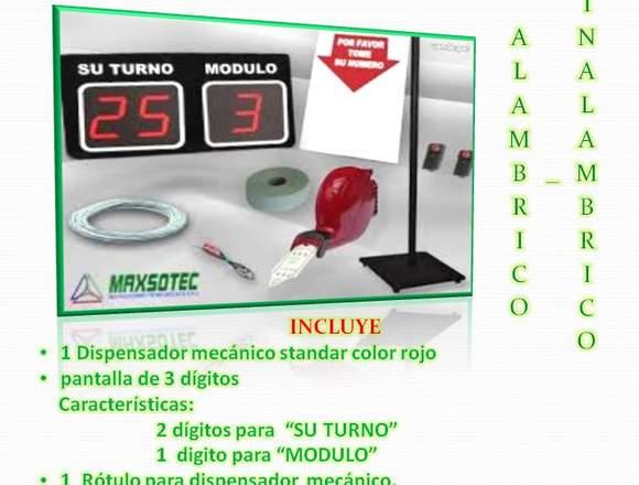 TURNOMATICS PANTALLA D3 3 DÍGITOS MAX-PE03
