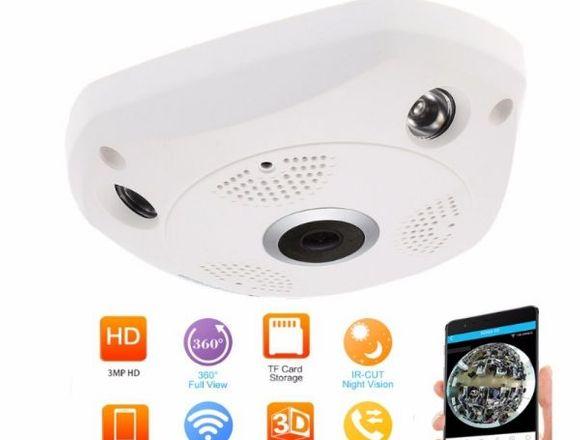 Cámara de seguridad Wi-Fi 360° 3MP.