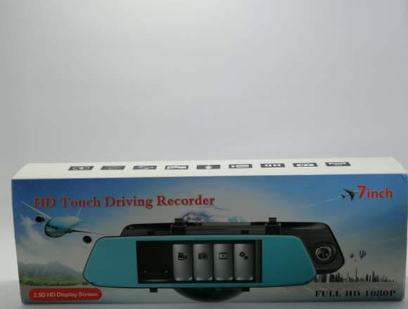 Espejo retrovisor touch con dvr y camara de revers