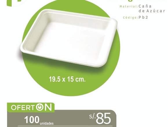 Sorbetes y envases biodegradables