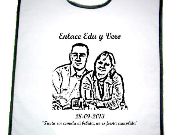 Detalle original boda baberos / venta toda España