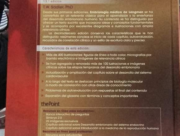 Libro de Embriologia Medica Langman