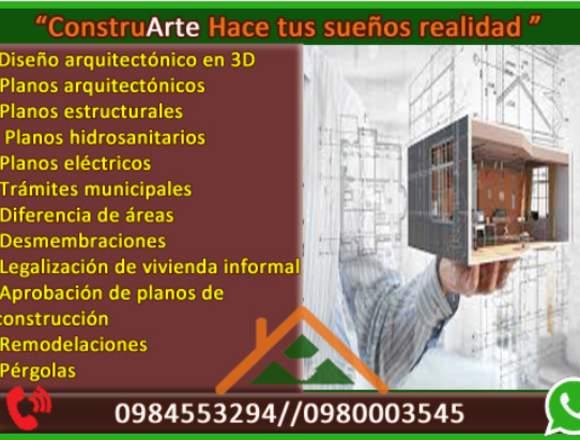 ConstruArte Arquitectura e ingeniería,planos