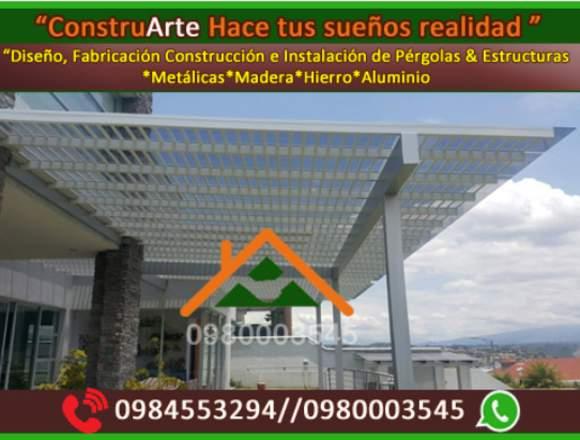 ConstruArte,PErgolas,Estructuras,metal,metalicas