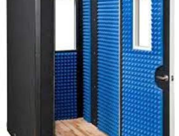 construccion de  cabina acustica comunimedios
