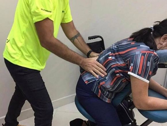Servicio de masaje exprés