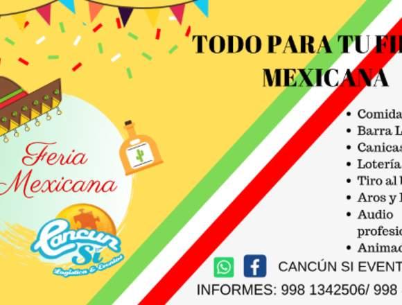 Fiesta temática mexicana feria