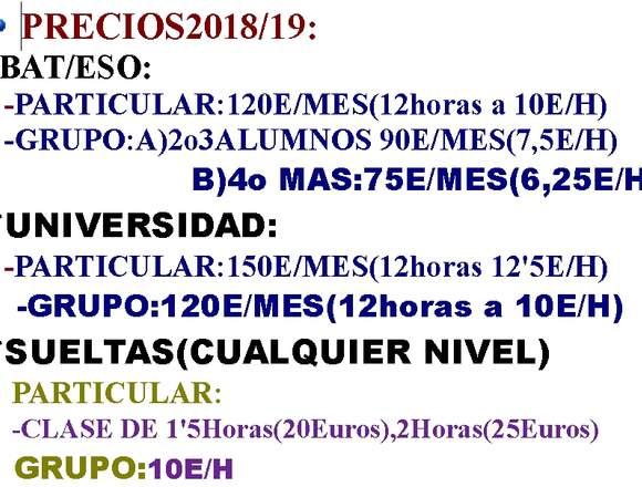 MATEMATICAS,FISICA Y QUIMICA(BAT,ESO,UNIVERSIDAD)