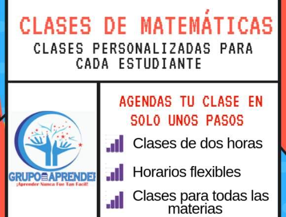 CLASES PARTICULARES DE MATEMÁTICAS-GRUPO APRENDER